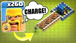 260 BARBARIANS CHARGE TOWN HALL 12......WHAT HAPPENS NEXT!? - Clash Of Clans