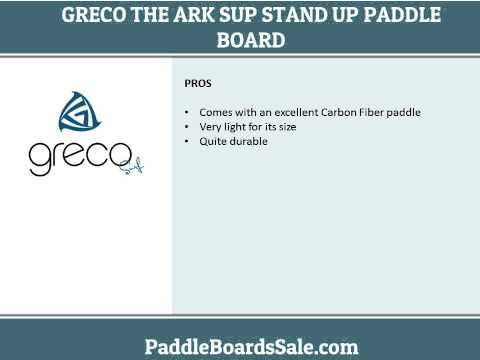 Greco The Ark SUP Stand Up Paddle board with Carbon Fiber Paddle video review