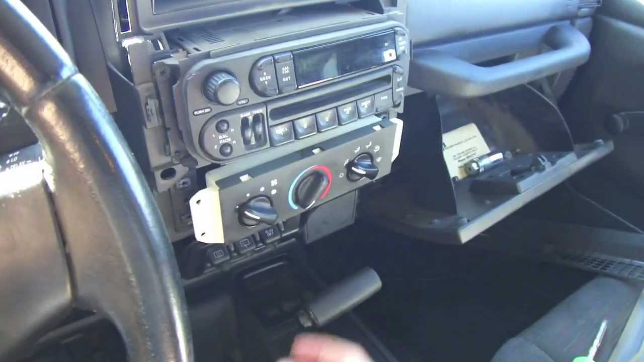 Diy Car Stereo Install In A Jeep Tj Youtube