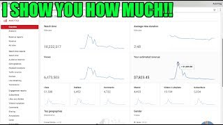 This is EXACTLY how much Youtube paid me for a 10 MILLION + views VIRAL VIDEO!