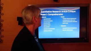 NUR 443 Research Article Critique