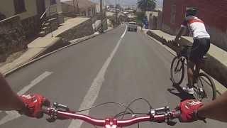 Bajada en bicicleta con caida