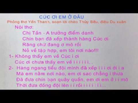 Karaoke Thuy Beu 123456789 Cuc oi em o dau