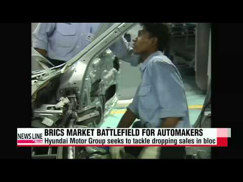 Korean automakers see sales drop in BRICs
