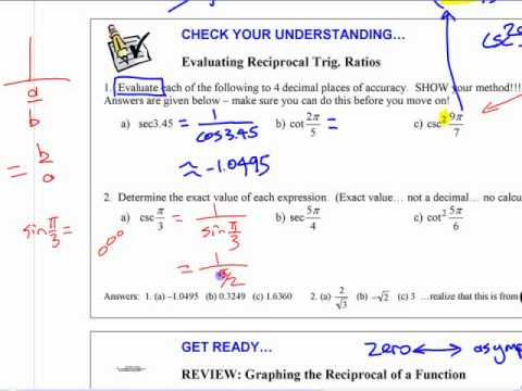 Reciprocal Trig Functions
