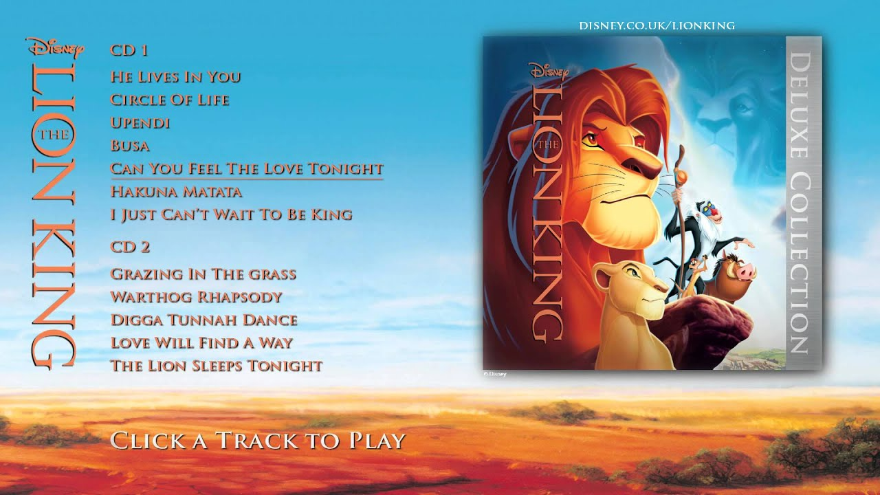 the lion king soundtrack - deluxe edition