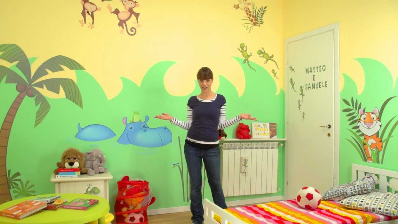 Decorazioni per la cameretta come una Giungla - Parte 2: Applicare i wall stickers per bambini ...