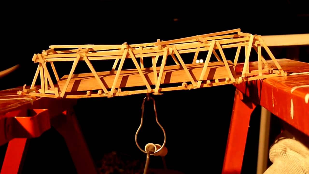 Balsa Wood Warren Truss Bridge PDF pattern wood bed frame