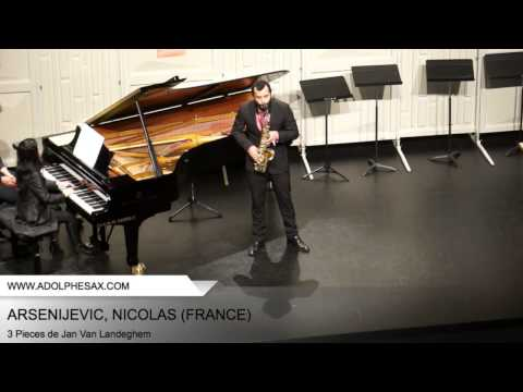 Dinant 2014 – ARSENIJEVIC, Nicolas (3 Pieces de Jan Van Landeghem)