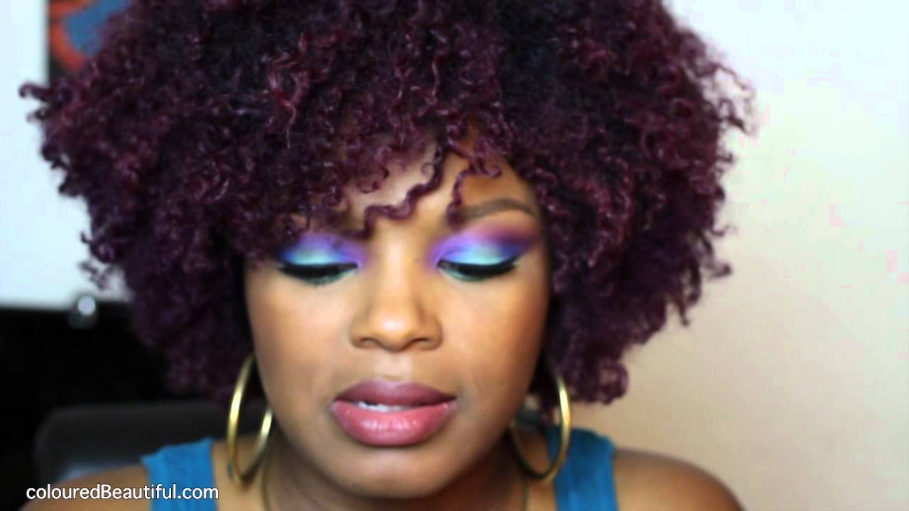 Purple Hair Color | Natural Hair - YouTube