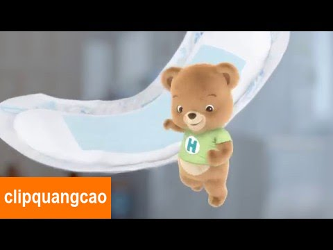 Quảng cáo tã HUGGIES Dry sơ sinh mới 2016 cho bé yêu