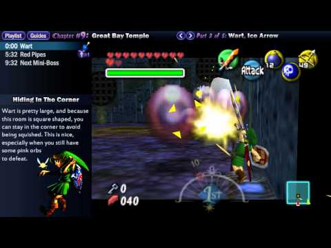 "Legend of Zelda Majora's Mask Walkthrough 09 (2/5) ""Great Bay Temple: Wart, Ice Arrow"""