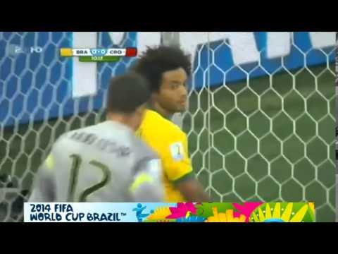 Marcelo Own GOAL ~ Brazil   Croatia 0 1 Fifa World Cup 2014 12 06 2014