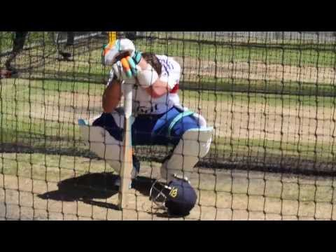 Ashes Cricket - Hard graft in the nets from Ian Bell
