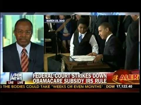 Major Blow To Obamacare - Federal Court Strikes Down Obamacare Rule - Dr Ben Carson