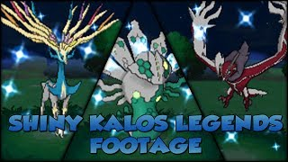 Pokémon X And Y Shiny Kalos Legends Footage