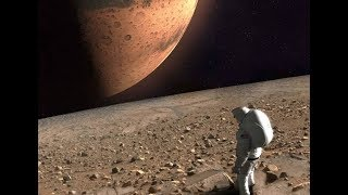 Standing on Martian Moons Phobos and Deimos