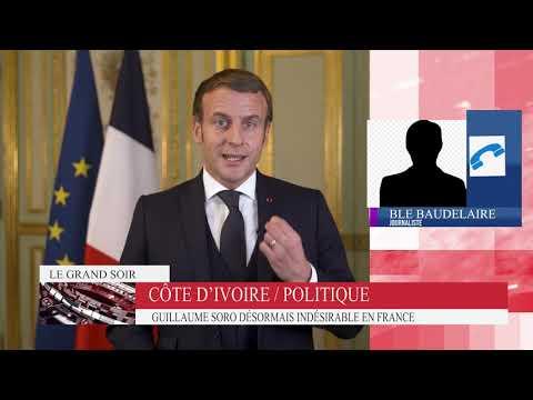 """Soro Guillaume désormais """" Persona non grata """" en France ,tant qu'il incite à l'insurrection."""