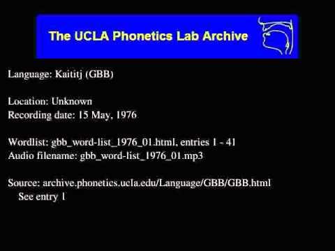 Kaytetye audio: gbb_word-list_1976_01