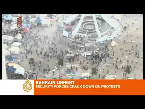 Police crackdown against Bahrain protesters