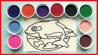 Đồ chơi trẻ em tô màu tranh cát chuột anh hùng, Learn Colors, Sand Painting (Chim Xinh)