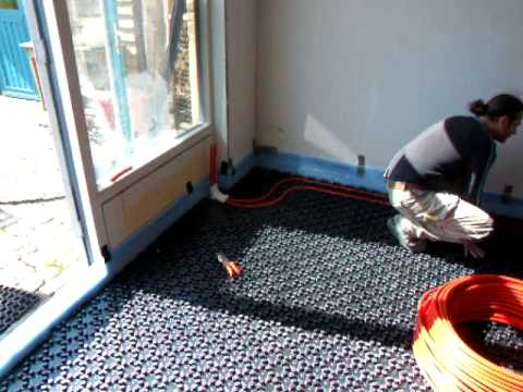 Leggen vloerverwarming