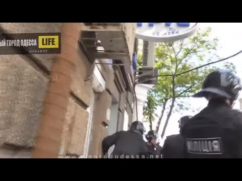 Violent Clashes Caused By Russian Terrorists In The Center Of Odessa Ukraine, May 2 2014 Pt.1
