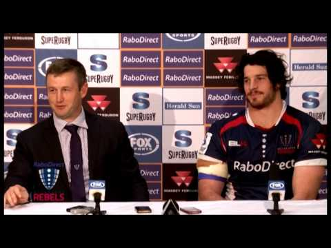 Rebels post Highlanders Press conference | Super Rugby Video Highlights 2013 - Rebels post Highlande