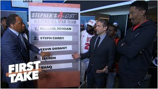Michael Jordan rounds out Stephen A's all-time All-Star list l First Take