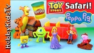 PEPPA Pig, Spongebob, Woody, Tigger PLAY-DOH Safari Tour