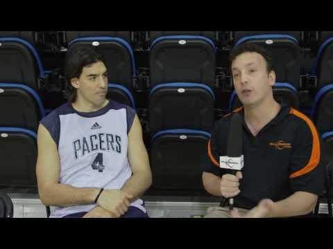 Pacers Forward Luis Scola Talks Posting Up And Playing Defense in the NBA