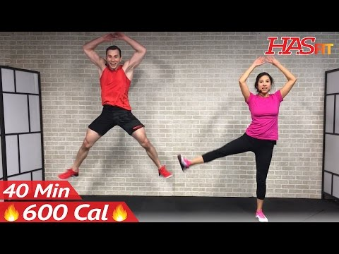 40 Min Tabata Cardio HIIT Workout No Equipment Full Body at Home Interval Training for Fat Loss HIT