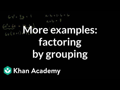 Factoring by Grouping and Factoring Completely