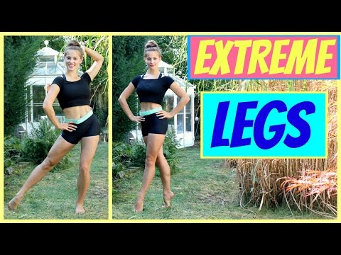 EXTREME LEGS Workout + Stretch: Quads, Hamstrings, Outer Thighs// Quick and Effective