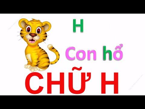 Dạy bé học bảng chữ cái tiếng việt qua bài hát | em tập đọc các con vật | Dạy trẻ thông minh sớm 1