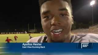 Apollos Hester is Super Pumped after a Grueling High School Football Win