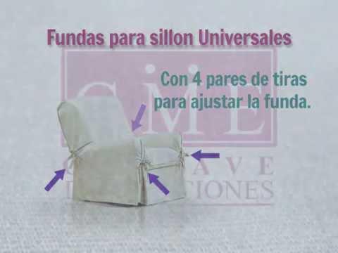 Funda de sillon universal un cuerpo youtube - Fundas elasticas para sillones ...