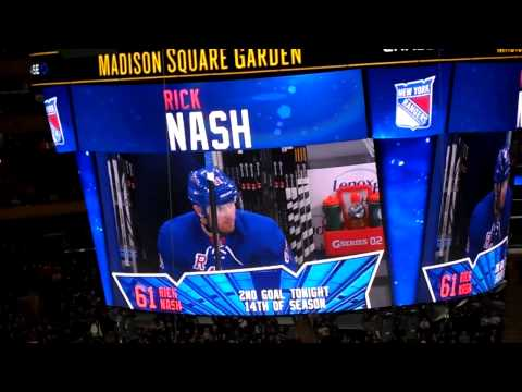 1/19/14- Washington Capitals vs New York Rangers: Rick Nash's 1st goal (PPG)