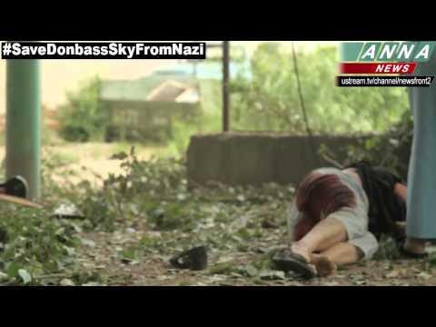 Slavyansk. Woman Wounded Shrapnel Artillery. 9 June 2014 (DPR)