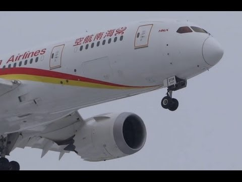 China Hainan Airlines Boeing 787-8 Landing 28C at Chicago O'Hare International Airport