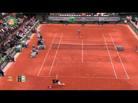 Roland Garros 2014 Sunday Highlights Gulbis Federer