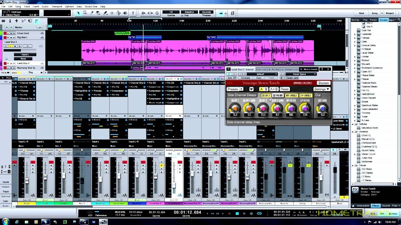 home studio presonus studio one 2 lead vocal mixing work flow youtube. Black Bedroom Furniture Sets. Home Design Ideas