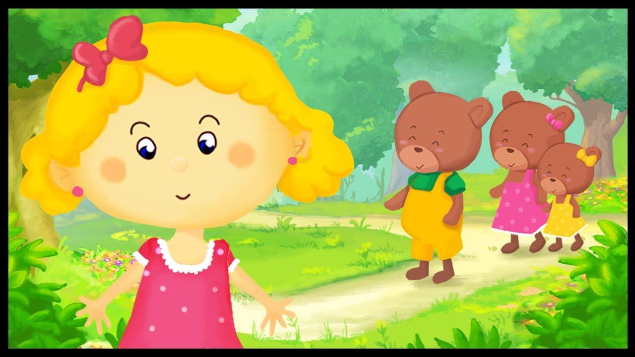 Histoire pour enfants boucle d 39 or et les 3 ours youtube - Petit ours dessin anime ...