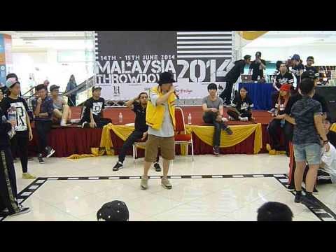 Malaysia Throwdown 2014 - Hip Hop FINAL - Wong Vi Vien vs Bear Teo