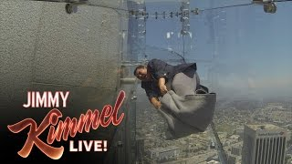 Guillermo Tries the Terrifying Skyslide
