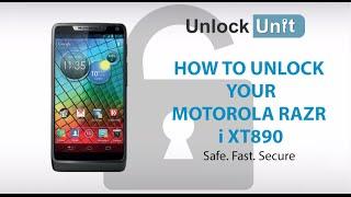 UNLOCK MOTOROLA RAZR I XT890 HOW TO UNLOCK YOUR MOTOROLA