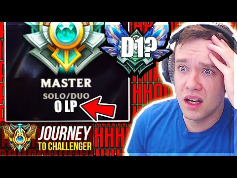 NOOOOO 0 LP... AM I DROPPING TO DIAMOND?????? - Journey To Challenger | League of Legends