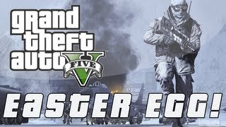 """Grand Theft Auto 5 """"Call Of Duty"""" Parody Easter Egg"""