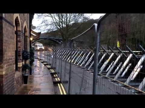UK floods 2014 - Ironbridge Flood Defence System