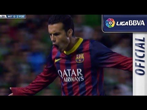 Golazo de Pedro (0-2) en el Real Betis - FC Barcelona